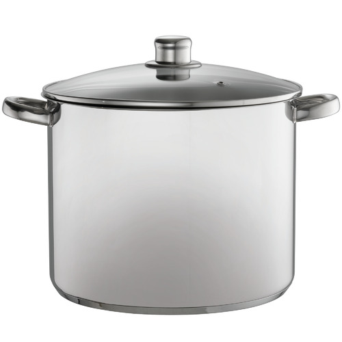 Davis & Waddell Silver 14L Stainless Steel Stock Pot with Lid