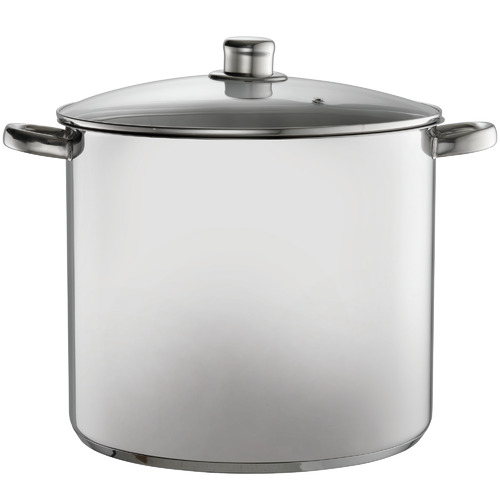 Davis & Waddell Silver 16.5L Stainless Steel Stock Pot with Lid