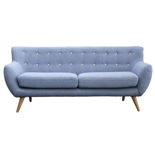 6ixty 6Ixty 3 Blue Seater Sofa