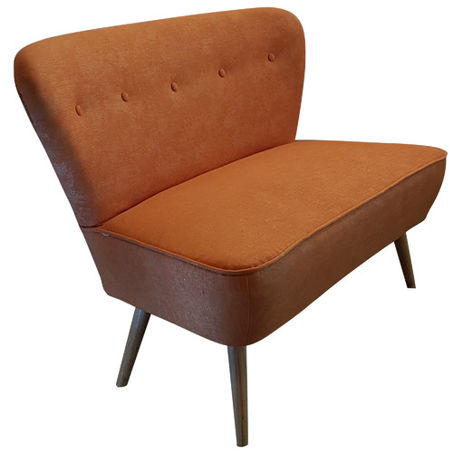 6ixty Orange 2 Seater Atom Chair