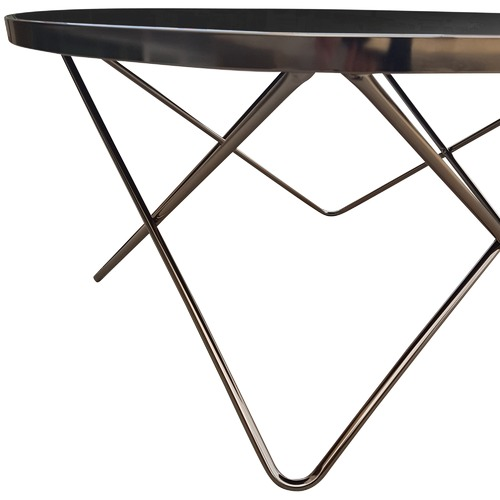 6ixty Champagne Mirrored Metal Coffee Table