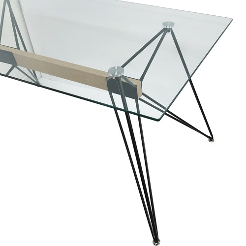 6ixty Web Rectangular Glass Dining Table