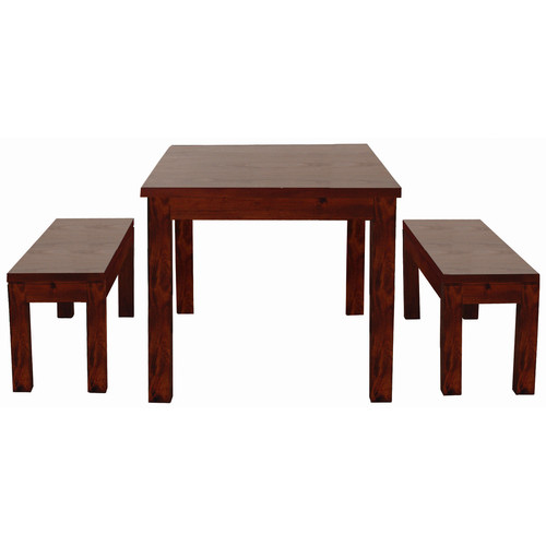La Verde Cube Dining Table 150 x 90 with 2 Bench Seats