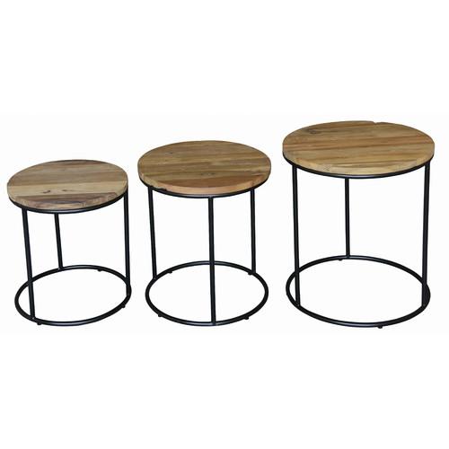 La Verde Round Ziggy Lamp Table