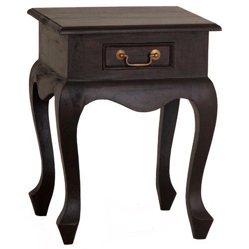 La Verde 1 Drawer Queen Ann Lamp Table