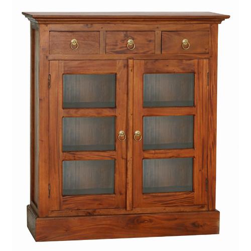 La Verde Small Jolynn 3 Drawer Display Cabinet