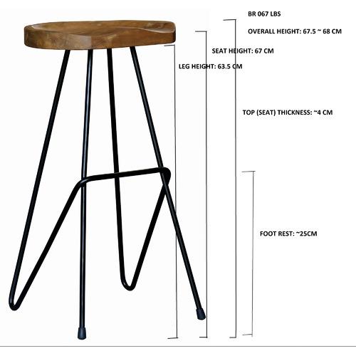 La Verde 71cm  Industrial Pin Iron Barstool