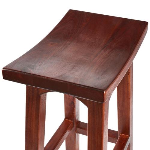 La Verde Kobe Nikko Wooden Kitchen Barstool