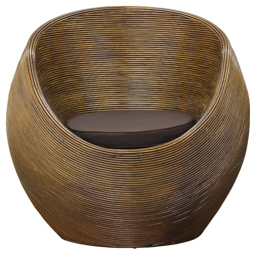 Round Wicker Coffee Table With Stools: Round Rattan Tub Chairs & Coffee Table