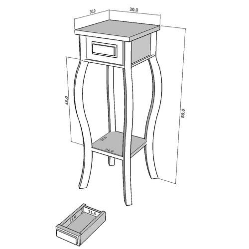 La Verde 1 Drawer Cabriole Leg Plant Stand