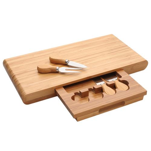 Bamboo Cheese Board 5 Piece Set