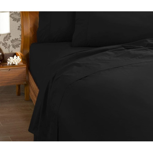 Kingdom 225 Thread Count Percale Cotton And Polyester Flat