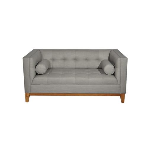Citron Life Claudia 2 Seater Fabric Sofa with Arm Cushions