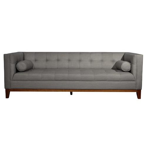 Citron Life Claudia 3 Seater Fabric Sofa with Arm Cushions