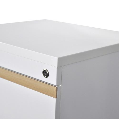 White Cala 3 Drawer Filing Cabinet