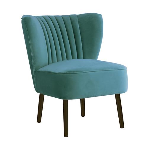 Attrayant Darcy U0026amp; Duke Aqua Slipper Chair