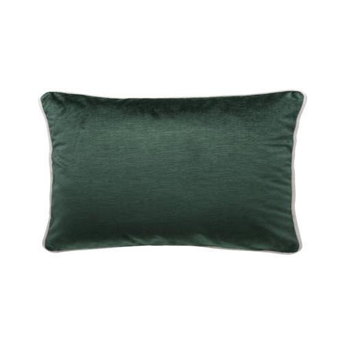 Park Avenue Ivy Green Luxury Velvet Rectangular Cushion