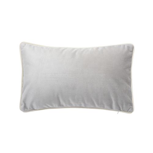 Park Avenue Pebble Grey Luxury Velvet Rectangular Cushion