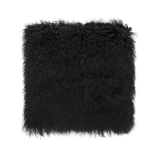 Park Avenue Black Tibetan Fur Cushion