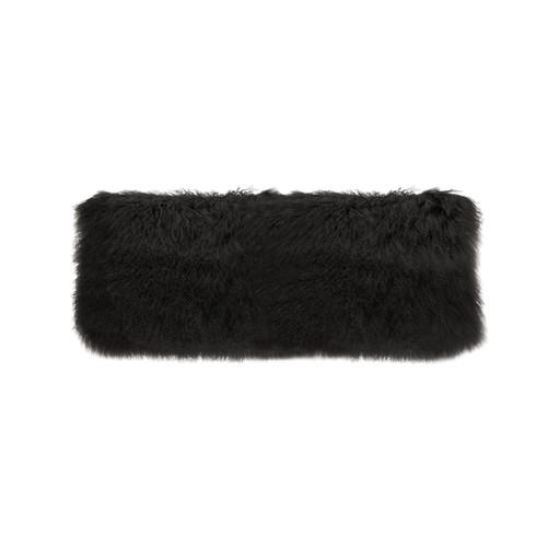 Park Avenue Black Tibetan Fur Long Cushion
