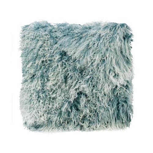 Park Avenue Blue Snowflake Tibetan Fur Cushion
