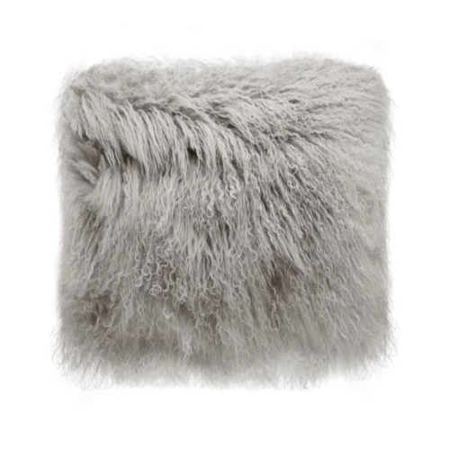 Park Avenue Grey Tibetan Fur Cushion