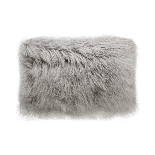 Park Avenue Grey Tibetan Fur Rectangular Cushion