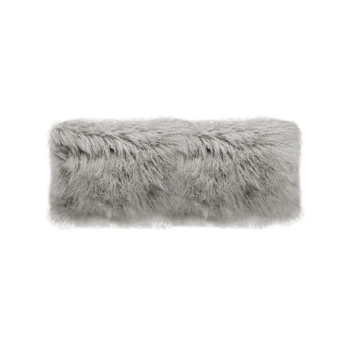 Park Avenue Grey Tibetan Fur Long Rectangular Cushion