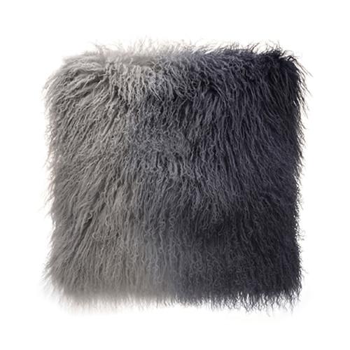 Park Avenue Grey Ombre Tibetan Fur Cushion