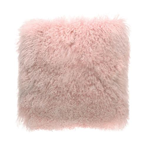 Park Avenue Pink Tibetan Fur Cushion