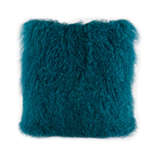 Park Avenue Peacock Tibetan Fur Cushion