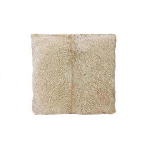 Park Avenue Blonde Goat Fur Cushion