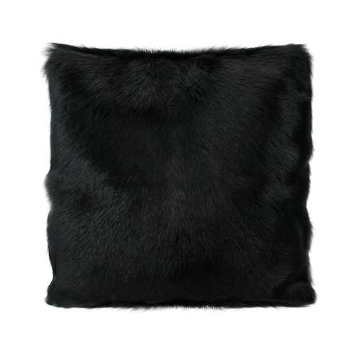 Park Avenue Black Goat Fur Cushion