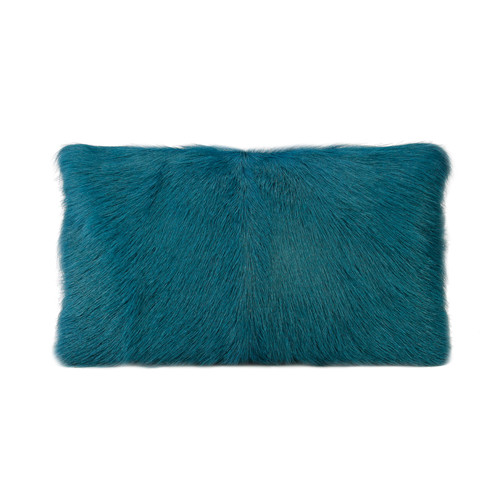 Park Avenue Peacock Goat Fur Rectangular Cushion