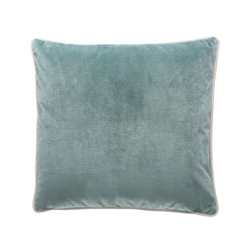 Park Avenue Aqua Gold Gilded Velvet Cushion