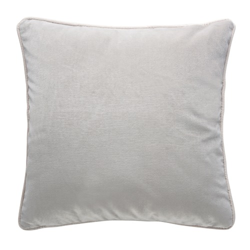 Pebble Grey Luxury Piped Velvet Cushion