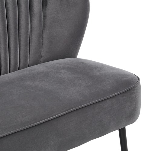 Charcoal Two Seater Sofa