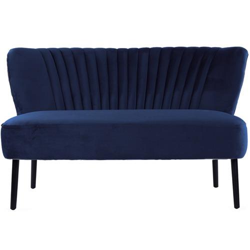 Park Avenue Coco 2 Seater Velvet Sofa with Black Wood Legs