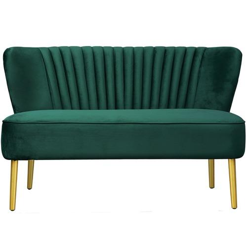 Park Avenue Ivy Green Coco 2 Seater Velvet Sofa