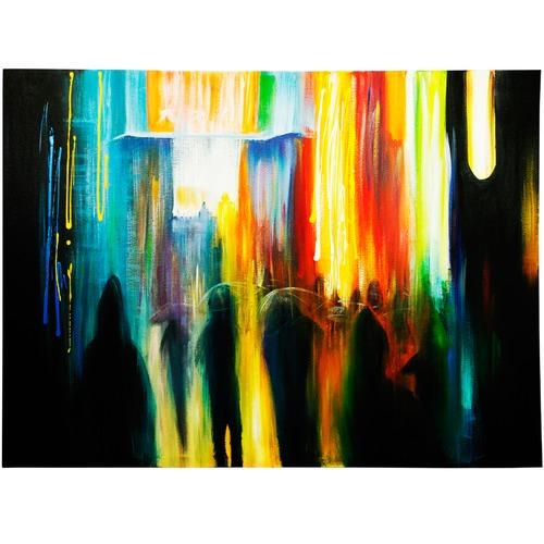 Park Avenue Midnight Rain Canvas Wall Art