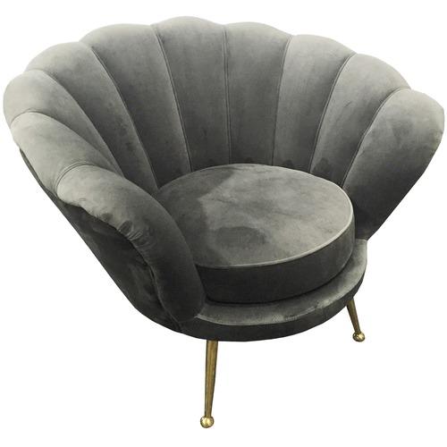 Manhattan Shell Velvet Armchair
