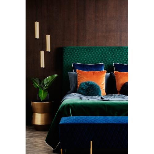 Park Avenue Ivy Green Coco Velvet Bedhead
