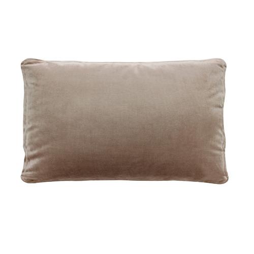 Hermann Piped Rectangular Velvet Cushion