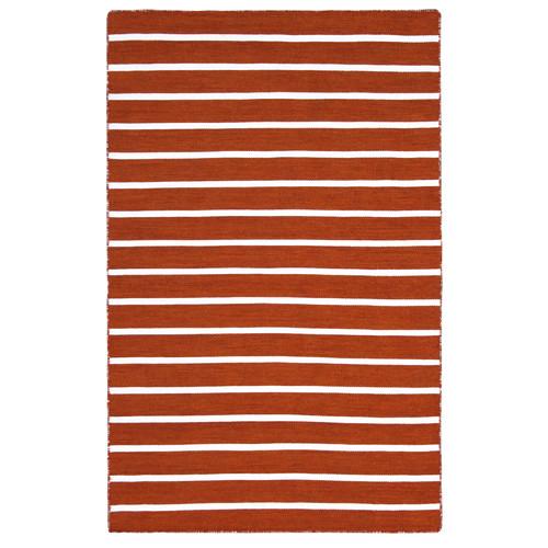 The Rug Society Pinstripe Orange Rug