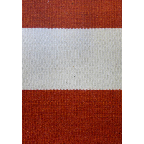 The Rug Society Bold Stripe Orange Rug