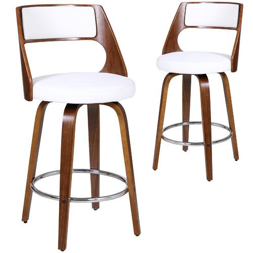 Rowland & Archibald White Zurich Modern Barstools