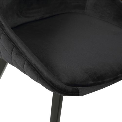 Rowland & Archibald Black Khufra Velvet Dining Chairs