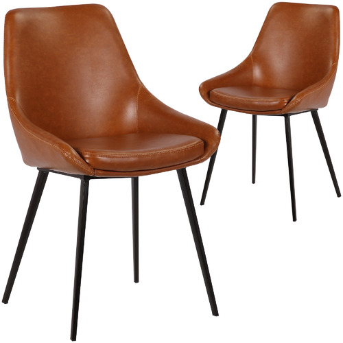 Rowland & Archibald Daimyo Faux Leather Dining Chairs