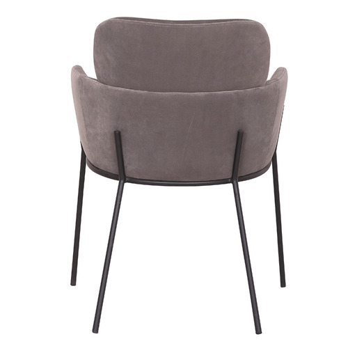 Rowland & Archibald Grey Warrence Upholstered Velvet Dining Chairs