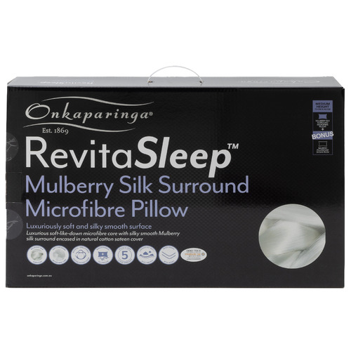 Onkaparinga RevitaSleep Mulberry Silk Surround Microfibre Pillow